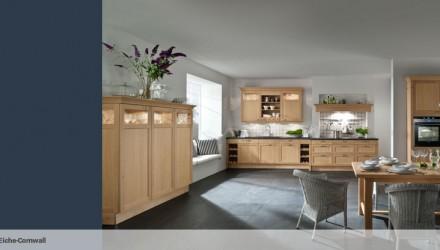 6045 – Klassische Küche in Eiche-Cornwall