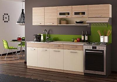 Bild der Küchenzeile Moren, grau und grün