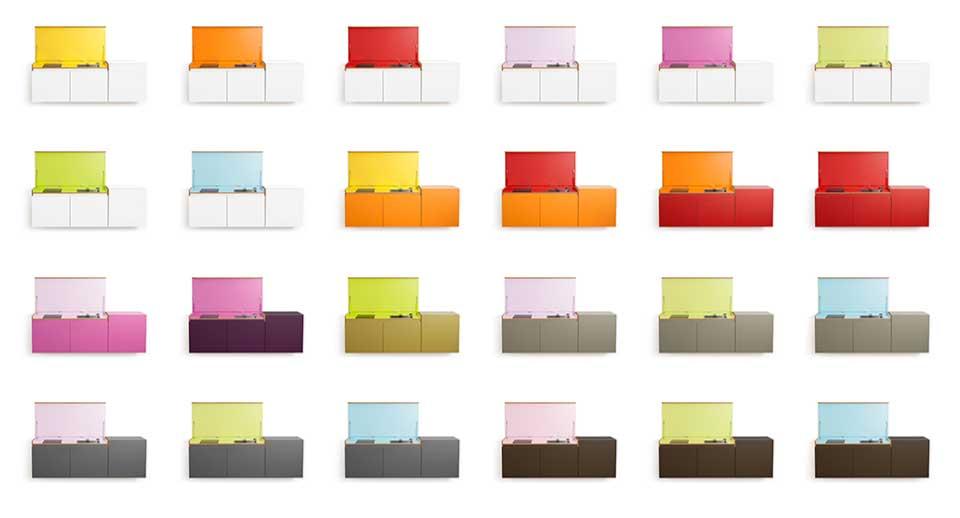 miniki-Miniküche in allen verfügbaren Farben