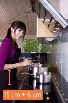 Küche - Die richtige Arbeitshöhe ermitteln