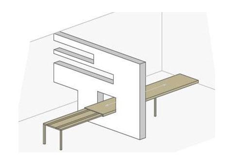 Bewegbarer Tisch für Küche und Esszimmer