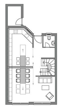 Grundriss der Wohnung, die Aline Haase plante